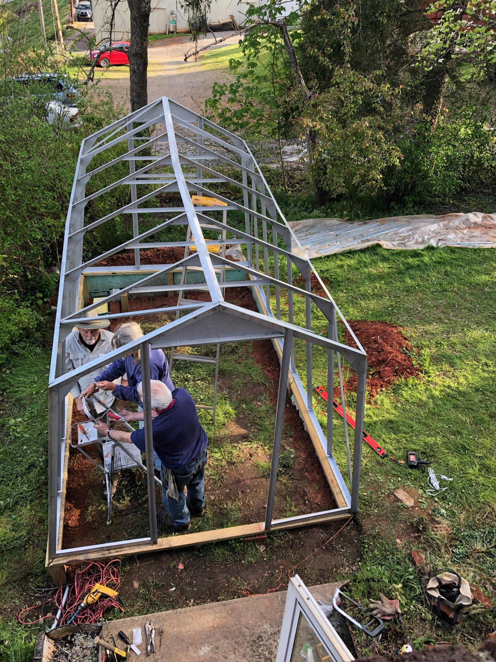 Overhead of greenhouse build